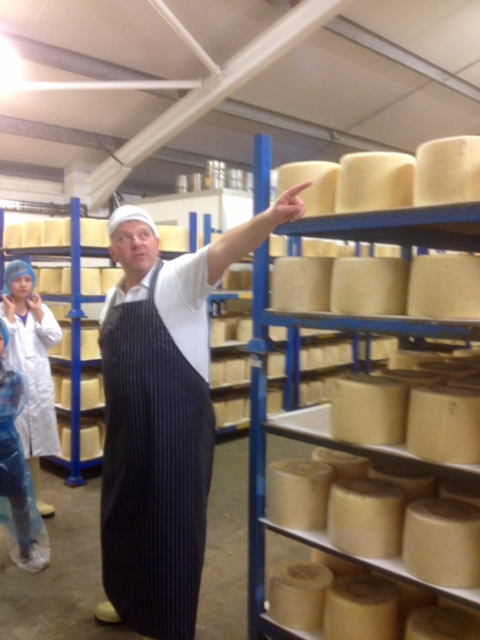 The legend that is Graham Kirkham, in the maturing rooms.